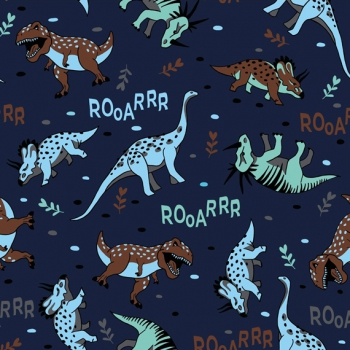 Jersey Rooarrr by Evelyn Lisi Design blau