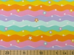 SALE Jersey Rainbow Waves gelb, orange, rosa